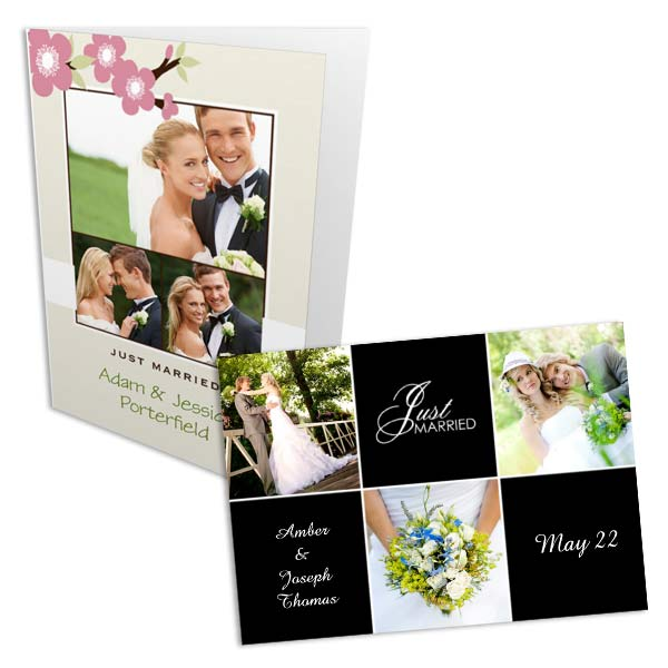 MailPix offers elegant templates for Wedding Photo Cards and invitations.