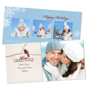 Add warmth to your loved one's day this Winter with a thoughtful customized Winter photo card.