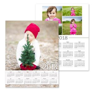Customize your own 2018 single page wall calendar with a special photo.