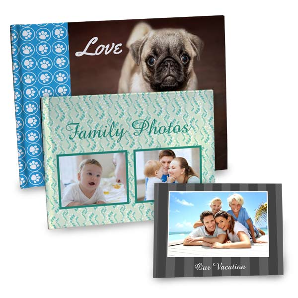 Create your own photo book with custom photo cover perfect for displaying your family memories