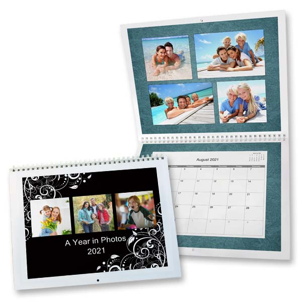 Create a custom 2021 calendar using your own photos with MailPix 8x11 calendars