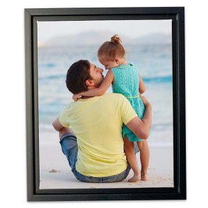 Our floating framed canvas will elegantly display any photo with elegance and modern style.