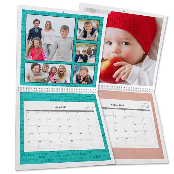 Customize your 2017 photo calendar with many colors