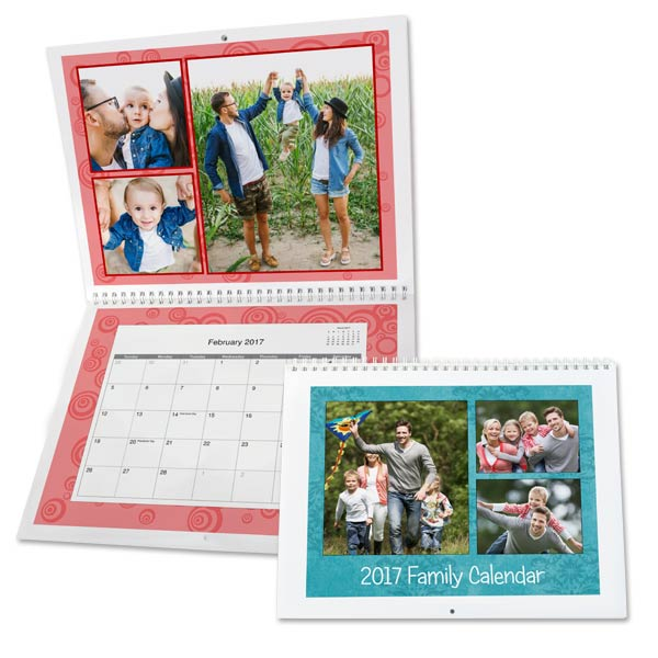 Keep up with your schedule and decorate any drab wall with color with our custom single page calendars.