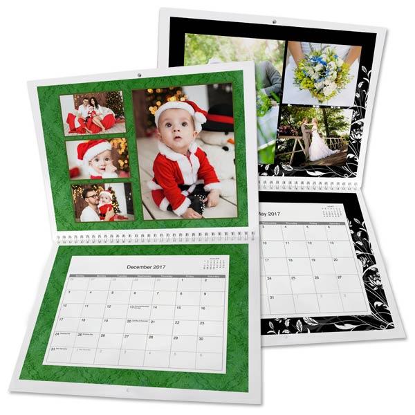 Create an 8x11 calendar and add custom dates and photos