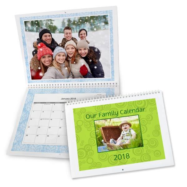 Create a custom 2018 calendar using your own photos with MailPix 8x11 calendars