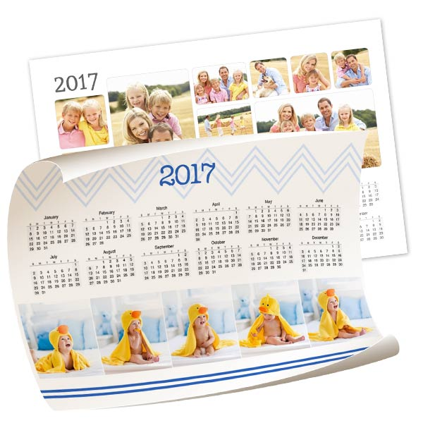 Create a poster calendar to suit your personality with many styles