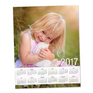 Beautiful Glossy single page 8x10 calendar for 2017