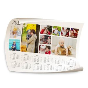 Customize your own 2018 calendar by adding your own photos to our 12x18 Calendar Wall Poster.