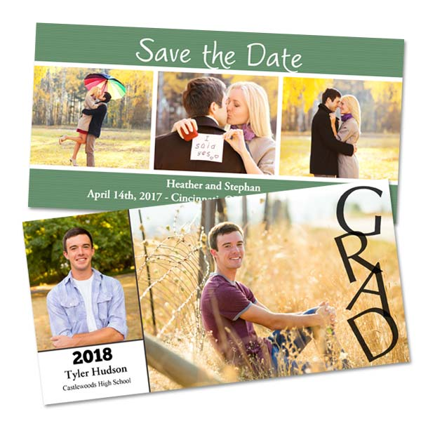 Create your own personalized glossy photo card for your graduation, all cards include invelopes