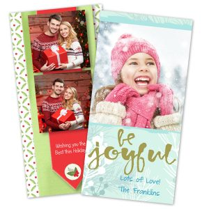 Classic 4x8 holiday Christmas cards for your sending pleasure