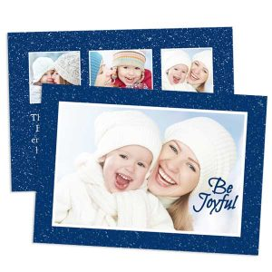 Make your own photo cards for Christmas and Hannukah with our 2 sided stationery cards.