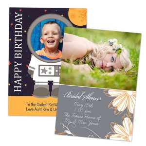 Create a custom birthday card or personalized card for your bridal shower invitation