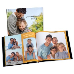 Create your own layouts and design a custom cover photo book for any occasion.