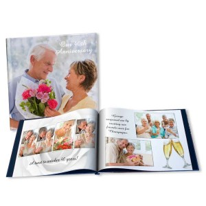 Commemorate an anniversary in style with our fully customized anniversary photo albums and books.