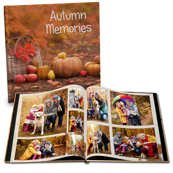 Create a custom photo book to remember your autumn season