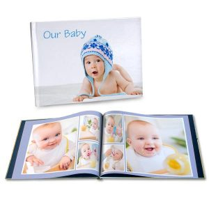 Gather your cherished baby photos and showcase them together with our personalized baby photo album.