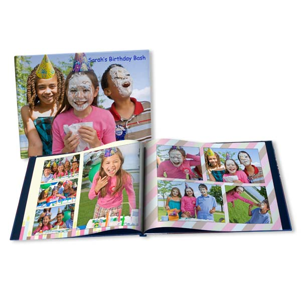 Create a customized photo birthday album for a loved one on their special day.