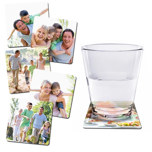 MailPix offers customizable beer coasters for summer BBQs.