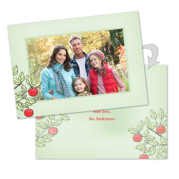 Make your own photo cards for Valentine's Day online with our 2 sided stationery cards.