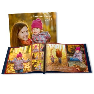 Select a size and background theme and build your own custom album to celebrate Fall.
