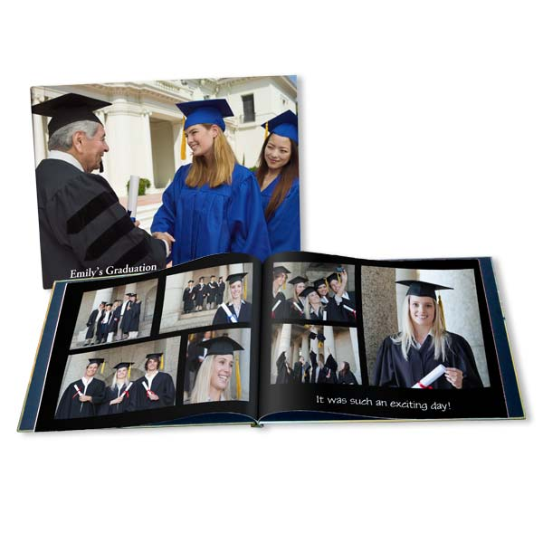 Create the perfect gift for your grad with our fully customized graduation photo book.