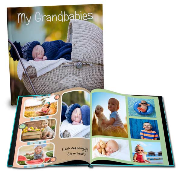 Perfect for grandparents, create a photo book featuring all their grand kids