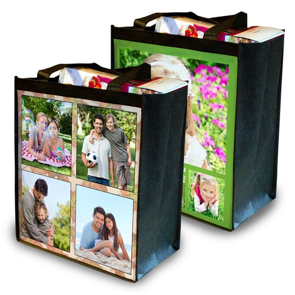 Photo Grocery Bag Custom Reusable Grocery Bag Mailpix