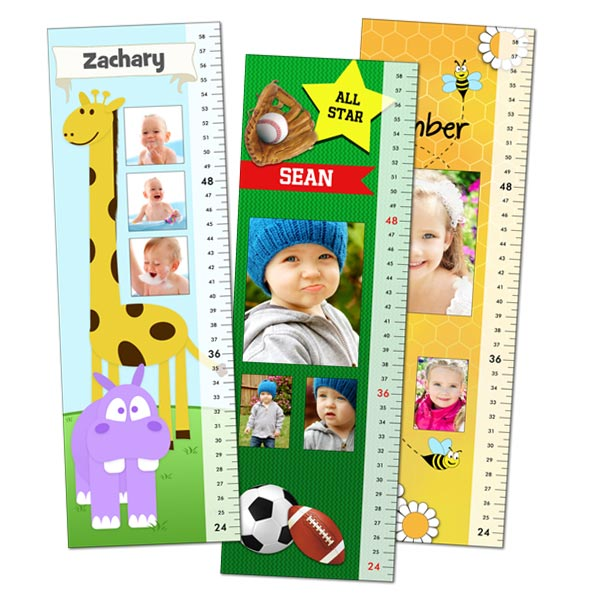 Create a themed growth chart that compliment your's child room today with MailPix