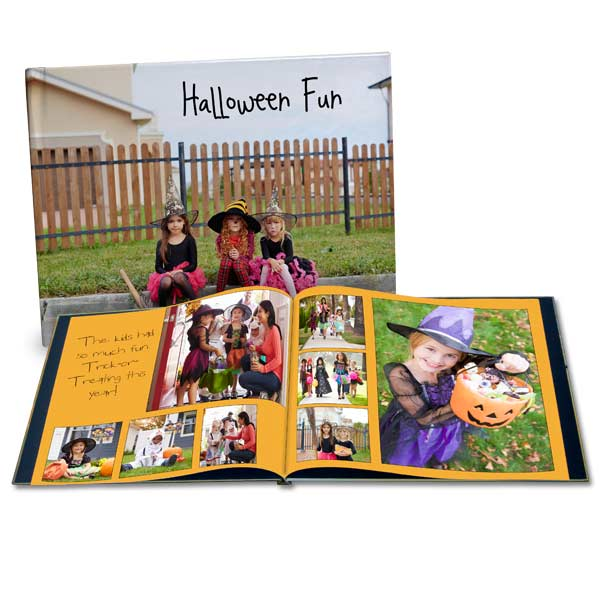 Create your own book for halloween featuring the fun you had giving out candy and trick or treating