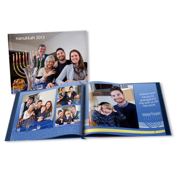 Safely and stylish display your Chanukkah memories with our Hanukkah holiday photo book.