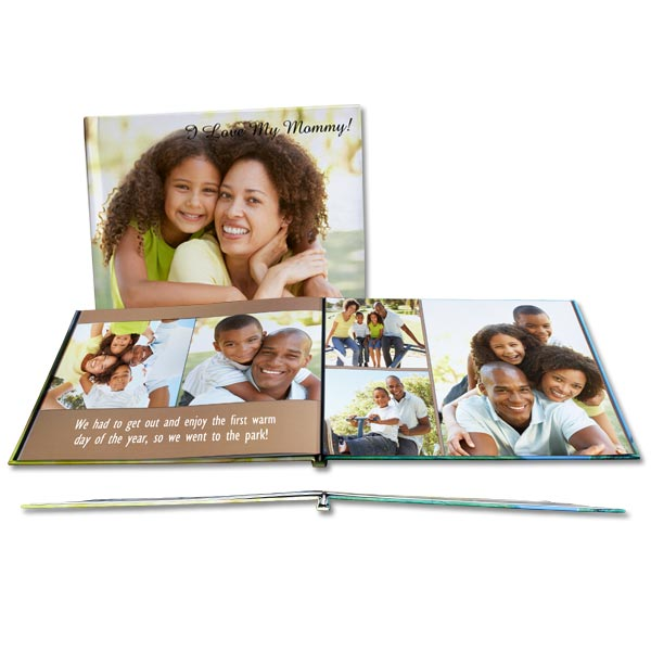 Create your own photo layouts and add your own custom text to create the ultimate lay flat photo book.
