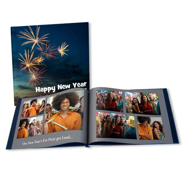 Perfect for your New Year's party photos, our New Year's photo books are fully customizeable.