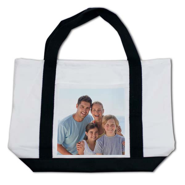 Show off a fun photo while making a fashion statement with our custom printed tote bags.
