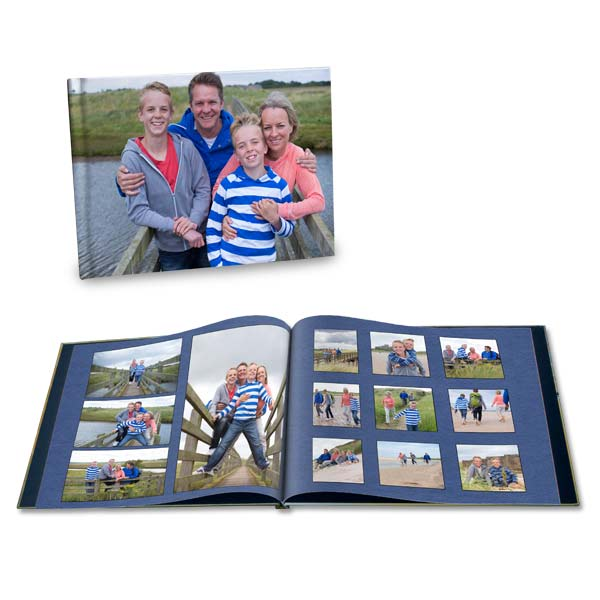 Remember your family vacation with a custom scrapbook printed and professionally bound