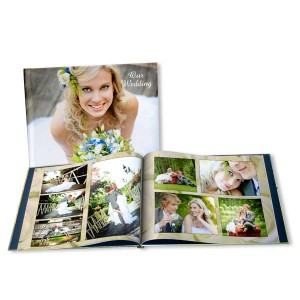Elegantly display your wedding photos with our personalized wedding photo books.