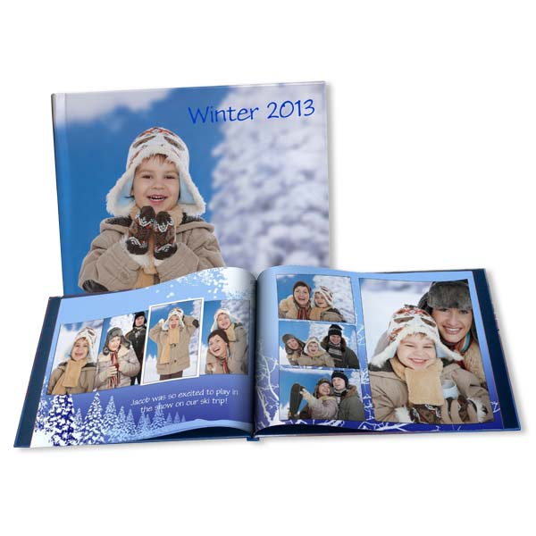 From family skii trips to snow days, our winter photo books are perfect for capturing your treasured wintertime memories.