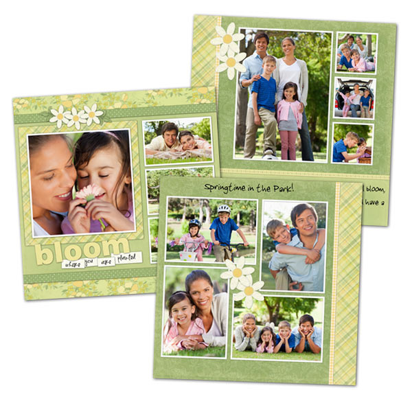Personalize your scrapbook with our fully customized 5x5 scrapbook pages.