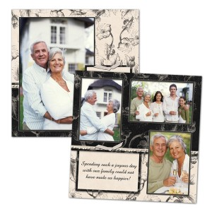 8x8 Scrapbook page layout templates