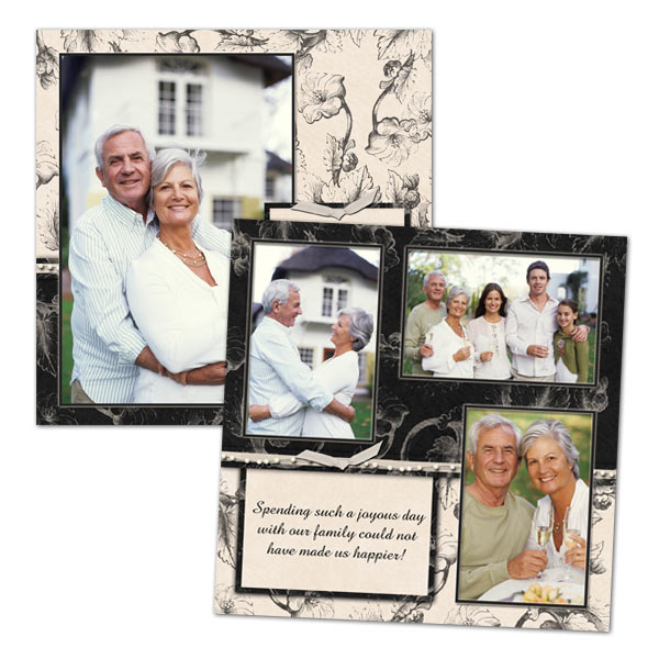 Use your own photos and creativity to design an eye catching scrapbook page complete with your cherished photos.
