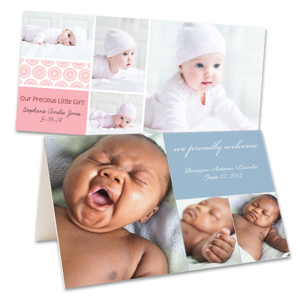 Make your own baby announcements and new baby cards with your favorite photos.