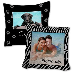 Incorporate your fondest memories into your decor with our personalized burlap pillows.