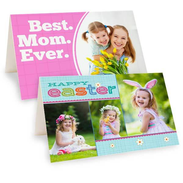 Create your own folding cards for Mothers day and Easter with MailPix