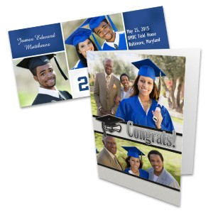 Create the ultimate graduation photo card to celebrate your grad's achievements.