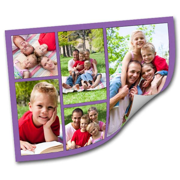 Apply your own custom photo collage in minutes with our adhesive photo print collages.