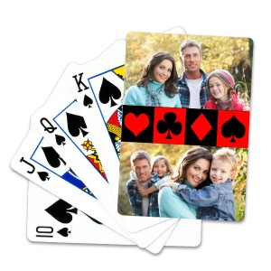 Create the perfect deck of cards that matches your personality with our custom playing cards.