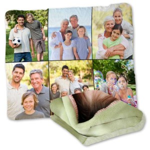 Winkflash offers quality plush Valentine's blankets personalized for you couch