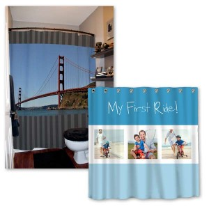 Winkflash offers easy-to-personalize photo shower curtains