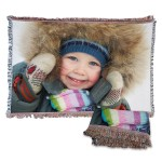 Custom tapestry photo blanket, personalized tapestry photo gift
