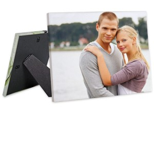 Decorate a shelf or table top with custom printed easel back canvas.